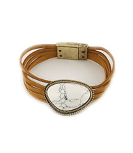 Bracelet  B 0370 GLD WHT