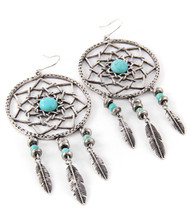 Earrings  E 0167 SLV TURQ