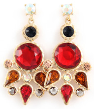 Earrings  E 3001 GLD RED