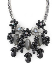 Necklace N 0620 SLV BLK