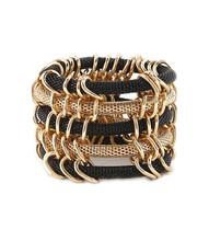 Bracelet  B 2835 GLD BLK