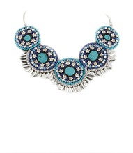 Necklace  N 5350 SLV TURQ