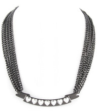 Necklace N 14697 GRY CLR