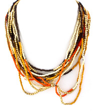 Necklace N 70422 BRN