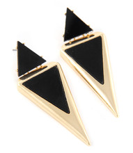Earrings  E 415 GLD BLK