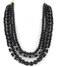 Necklace N 0681 GLD BLK