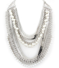 Necklace N 10730 SLV WHT