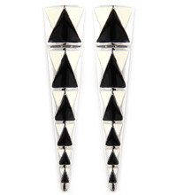 Earrings  E 5523 SLV BLK