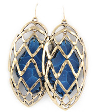 Earrings  E 1572 GLD BLU