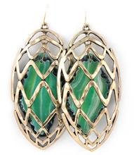 Earrings  E 1572 GLD GRN