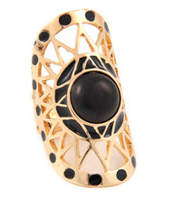 Ring  R 0127 GLD BLK