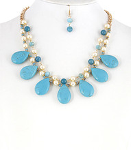 Necklace N 0171 CRM TURQ