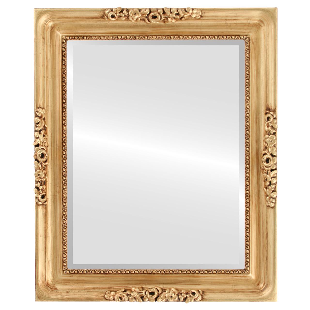 Versailles Rectangle Gold Leaf Mirror