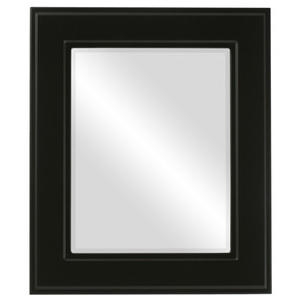 Beveled Mirror - Montreal Rectangle Frame - Matte Black