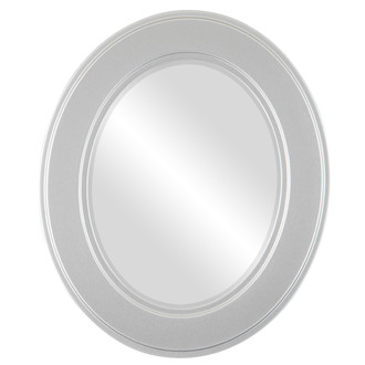 Beveled Mirror - Montreal Oval Frame - Silver Spray