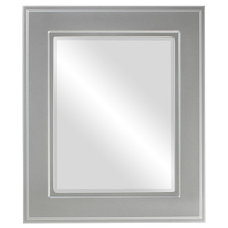Beveled Mirror - Montreal Rectangle Frame - Silver Spray
