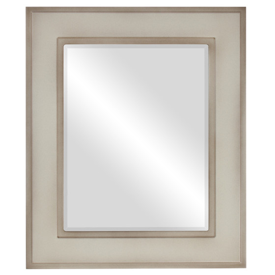 Beveled Mirror - Montreal Rectangle Frame - Taupe