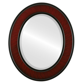 Beveled Mirror - Montreal Oval Frame - Vintage Cherry