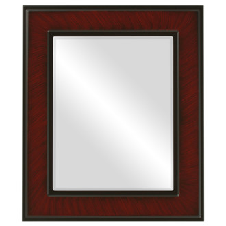 Beveled Mirror - Montreal Rectangle Frame - Vintage Cherry