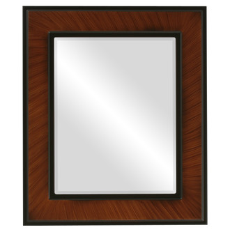 Beveled Mirror - Montreal Rectangle Frame - Vintage Walnut