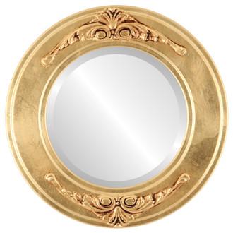 Beveled Mirror - Ramino Round Frame - Gold Leaf