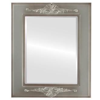 Beveled Mirror - Ramino Rectangle Frame - Silver Shade