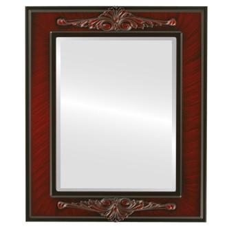 Beveled Mirror - Ramino Rectangle Frame - Vintage Cherry