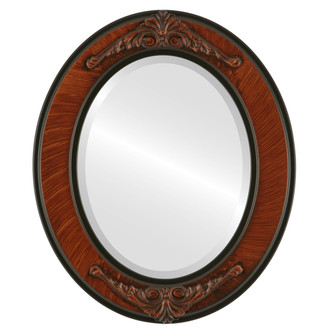 Beveled Mirror - Ramino Oval Frame - Vintage Walnut