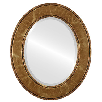 Beveled Mirror - Paris Oval Frame - Champagne Gold