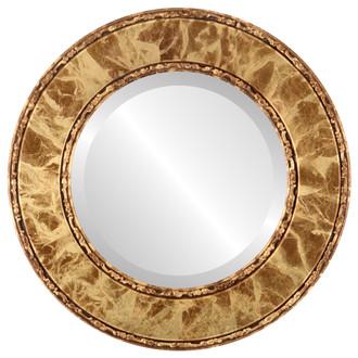 Beveled Mirror - Paris Round Frame - Champagne Gold