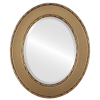 Beveled Mirror - Paris Oval Frame - Desert Gold
