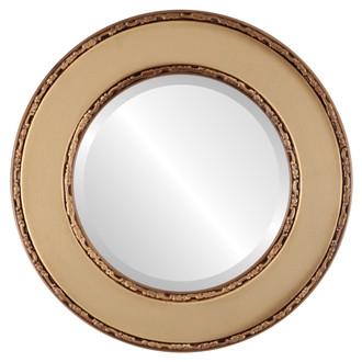 Beveled Mirror - Paris Round Frame - Desert Gold