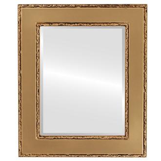 Beveled Mirror - Paris Rectangle Frame - Desert Gold