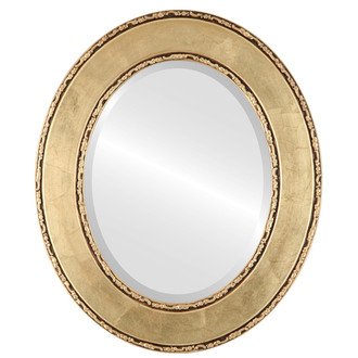 Beveled Mirror - Paris Oval Frame - Gold Leaf