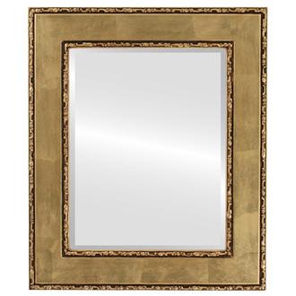 Beveled Mirror - Paris Rectangle Frame - Gold Leaf