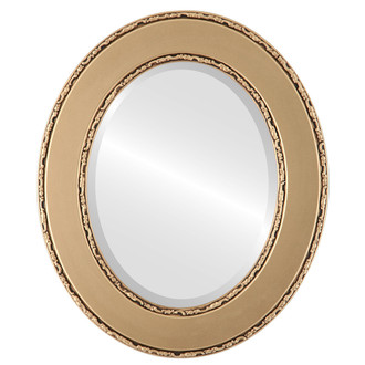 Beveled Mirror - Paris Oval Frame - Gold Spray