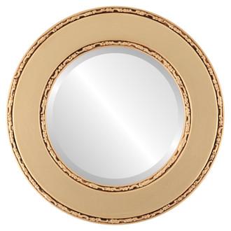 Beveled Mirror - Paris Round Frame - Gold Spray