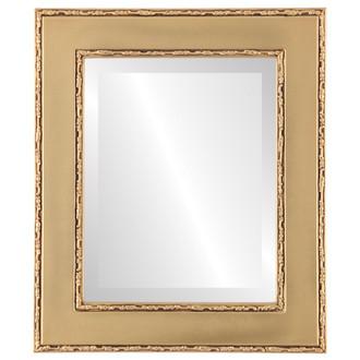 Beveled Mirror - Paris Rectangle Frame - Gold Spray