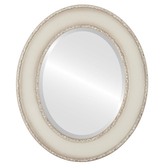 Beveled Mirror - Paris Oval Frame - Taupe