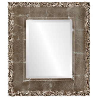 Beveled Mirror - Williamsburg Rectangle Frame - Champagne Silver