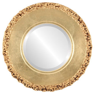 Beveled Mirror - Williamsburg Round Frame - Gold Leaf