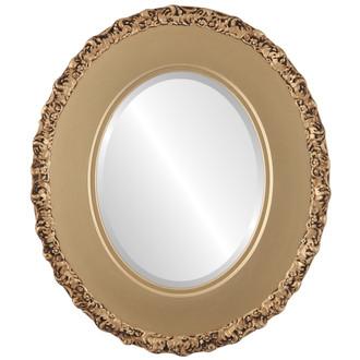 Beveled Mirror - Williamsburg Oval Frame - Gold Spray