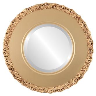 Beveled Mirror - Williamsburg Round Frame - Gold Spray