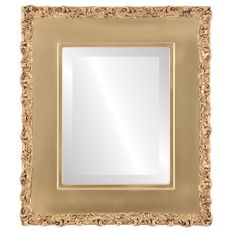 Beveled Mirror - Williamsburg Rectangle Frame - Gold Spray