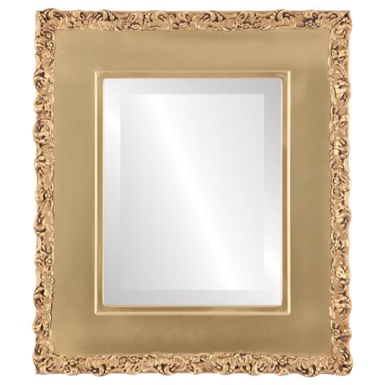 Beveled Mirror - Williamsburg Rectangle Frame - Gold Spray