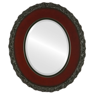 Beveled Mirror - Williamsburg Oval Frame - Rosewood
