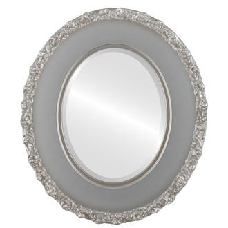 Beveled Mirror - Williamsburg Oval Frame - Silver Shade