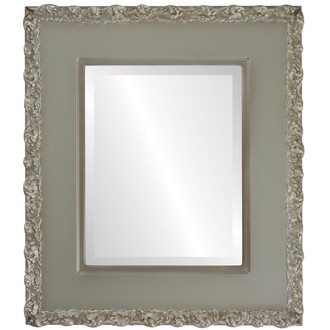 Beveled Mirror - Williamsburg Rectangle Frame - Silver Shade