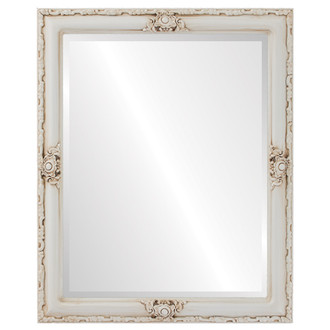 Beveled Mirror - Jefferson Rectangle Frame - Antique White