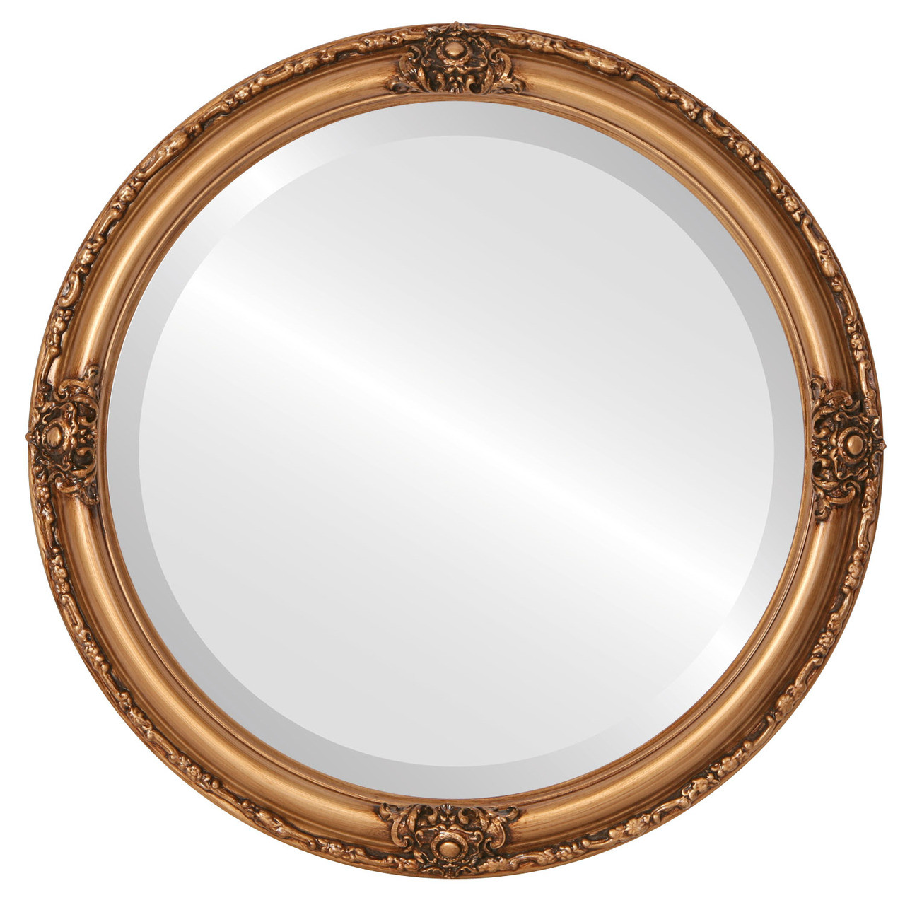 Round mirror with and without frame